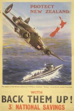 An 'overprint' multi-use wartime propaganda Hudson poster.