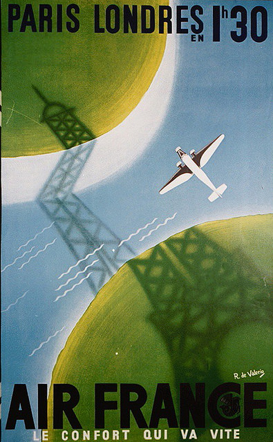 Air France Paris Londres Poster