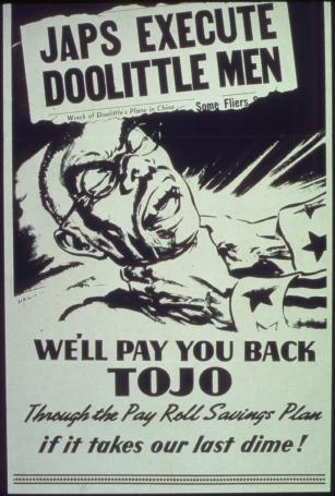 """Japs_Execute_DooLittle_Men._We'll_Pay_You_Back_Tojo""_-_NARA_-_513574"