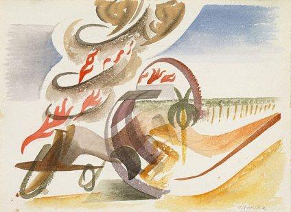 Artist : Frank Hinder (Australia, b.1906, d.1992) Title : Date : -1942 Medium Description: pencil, watercolour on white wove paper Dimensions : Credit Line : Purchased 1968 Image Credit Line : Accession Number : WA3.1968